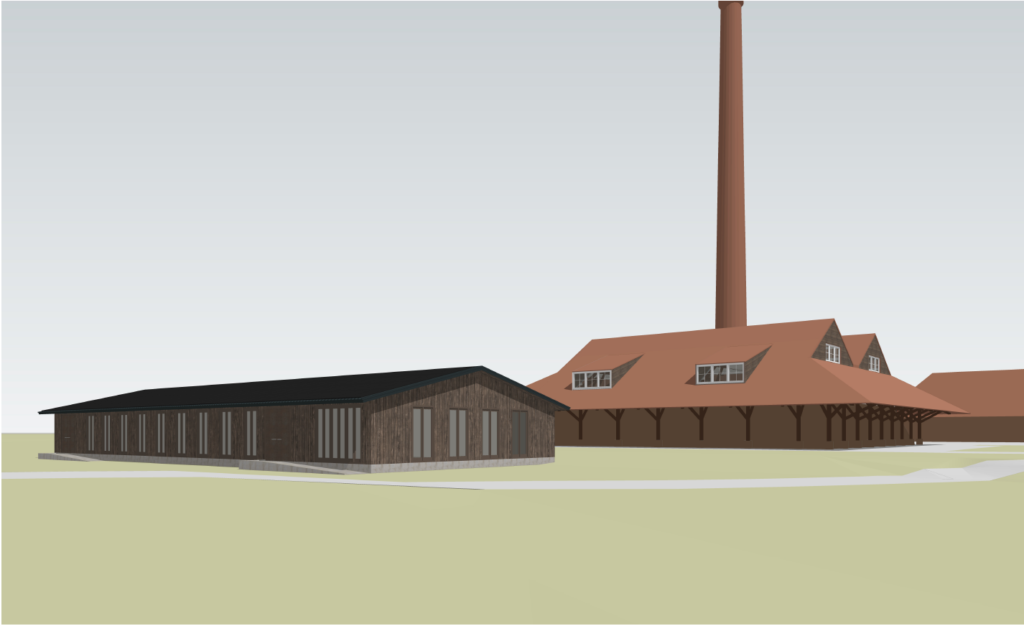 Impressie van het nieuwe clubgebouw